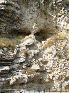 Skull in rock at Golgotha