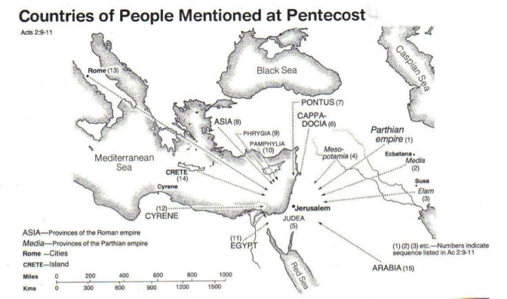 Pentecost Countries