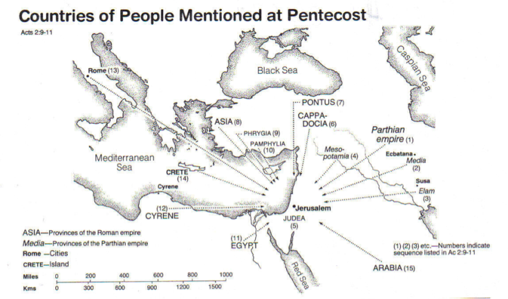 Pentecost Countries