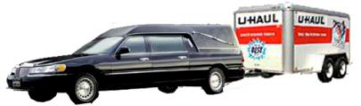 Hearse with uhaul