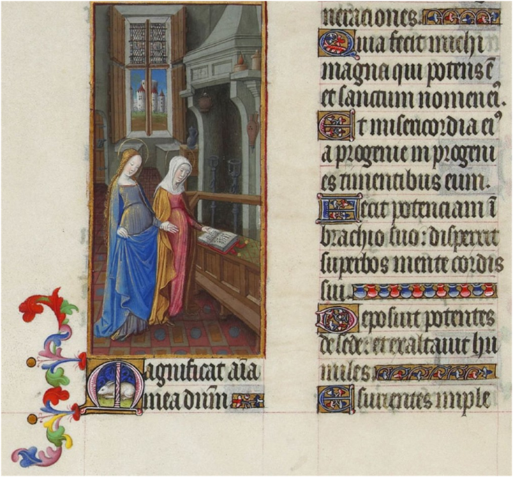 Mary illustration on manuscript
