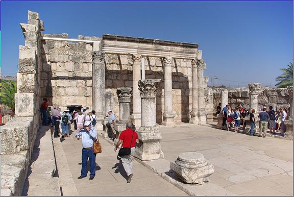 Capernaum synogogue ruins