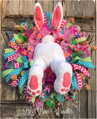 Easter Wreath bunny buns